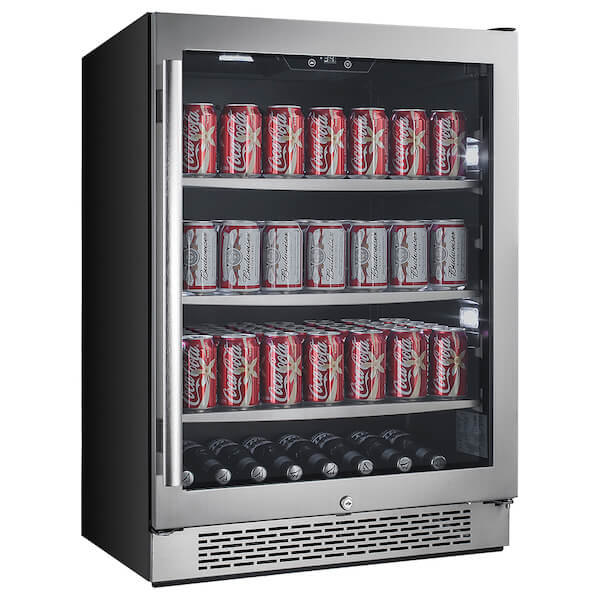 Avallon ABR241SGRH 24-Inches 140 Cans Built-In Beverage Cooler Fridge
