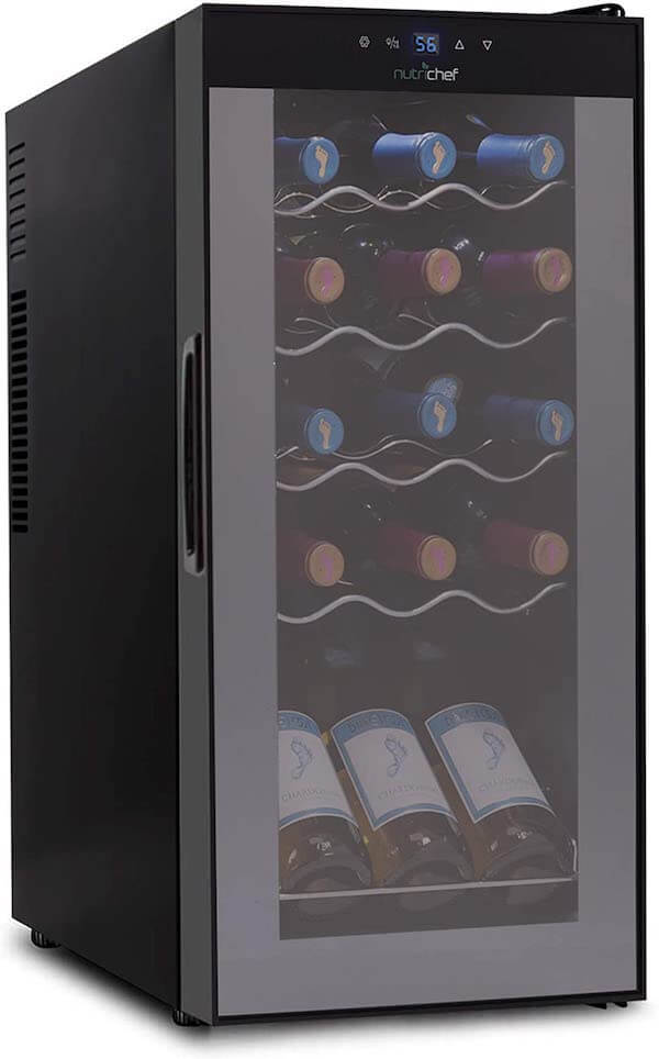 Nutrichef-15-Bottle-Wine-Cooler-Refrigerator-White-Red-Wine-Fridge-Chiller-Countertop-Wine-Cooler-Freestanding-Compact-Mini-Wine-Fridge